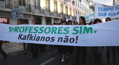 Manifestação de 8 de Novembro. Foto de Ana Candeias