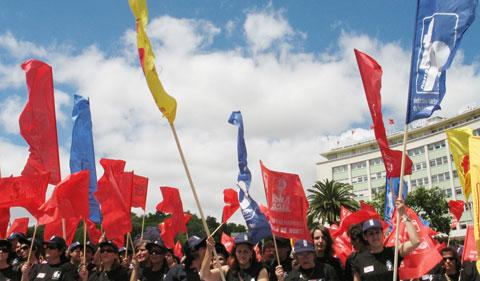 Função Pública em manifestação da CGTP em Junho. Foto de Paulete Matos