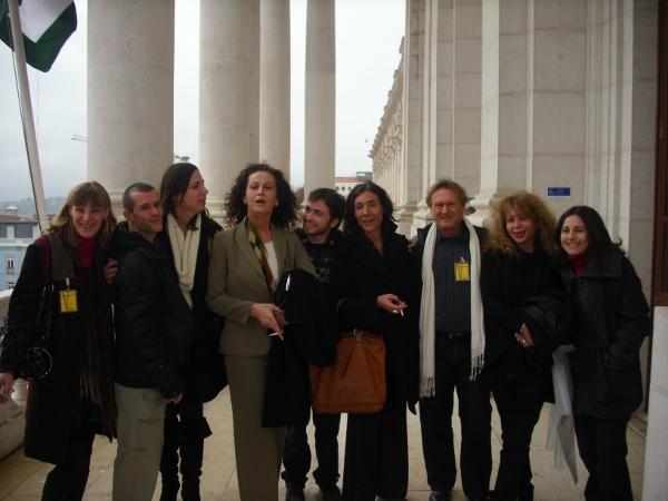 Carla Antonelli, a transexual espanhola que deu a cara em Espanha pela Lei da Identidade de Género, aprovada em 2007, foi recebida pelo Bloco de Esquerda.