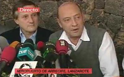 Eurodeputados Miguel Portas e Willy Meyer na conferência de imprensa
