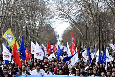 Manifestação dos enfermeiros - Foto da Lusa