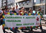 A faixa do Bloco na Manifestação. Foto de Pedro Ferreira. Clica para ampliar