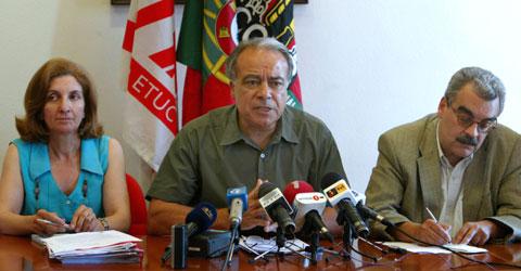Conferência de imprensa da CGTP - Foto da Lusa