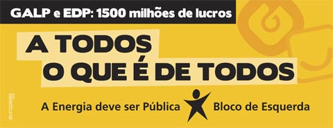 Novo outdoor do Bloco de Esquerda