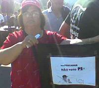 Sou pescador não voto PS - Manifestação em Odemira, foto de Alberto Matos