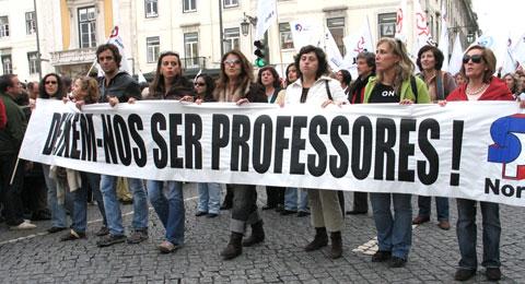 Manifestação de Professores 8 de Novembro de 2008, foto de Paulete Matos