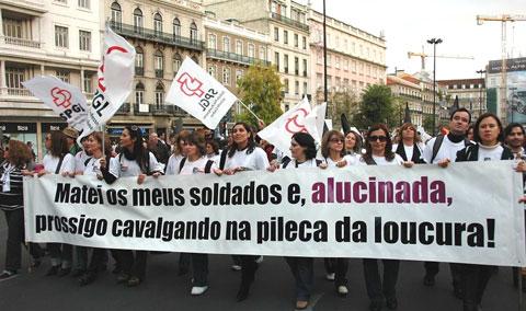 Manifestação Nacional de Professores de 8 de Novembro. Foto de Manuel Pinto