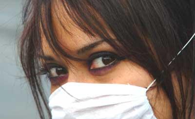 Máscara para proteger da gripe A. Foto de Esparta, FlickR