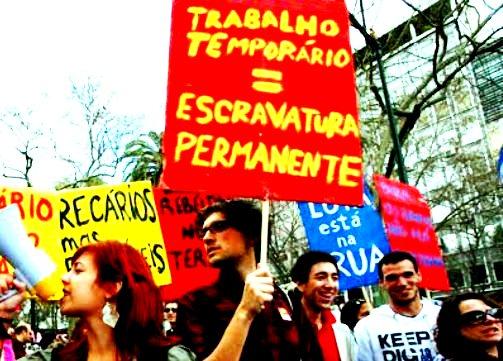 """Foto Mayday Lisboa, protesto """"Geração à Rasca"""", 2011."""