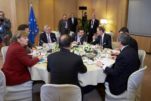 'Assinaria isto, este acordo?' e ele respondeu: 'Não, não assinaria. Não é bom para o vosso povo'. Foto European Council President