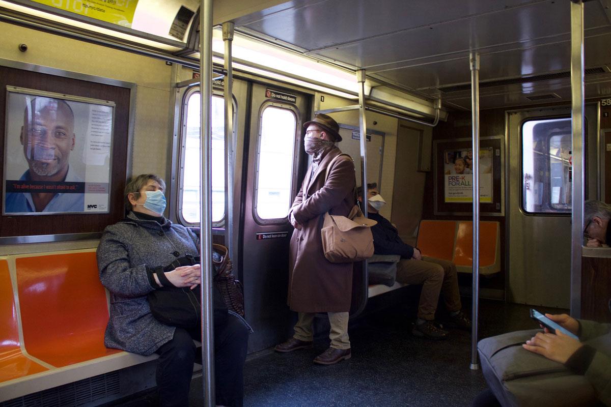 Metro de Nova Iorque, 31 março 2020