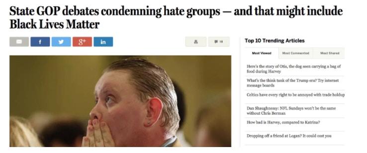"""""""Diretório regional do Partido Republicano discute repúdio a grupos de ódio - e isso pode incluir o Black Lives Matter"""""""