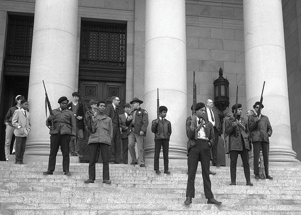 Manifestação do Partido dos Panteras Negras