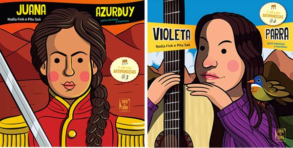 """Neste mês de março chegou uma nova coleção infantil editada pela """"Tinta da China"""", reeditando uma criação da editora argentina Chirimbote - As anti-princesas, com heroínas reais, apresentará as mulheres como elas são"""