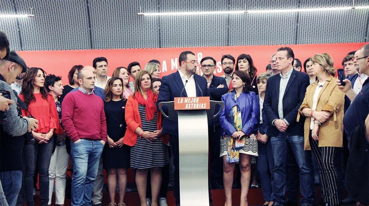 Noite eleitoral do PSOE nas Astúrias