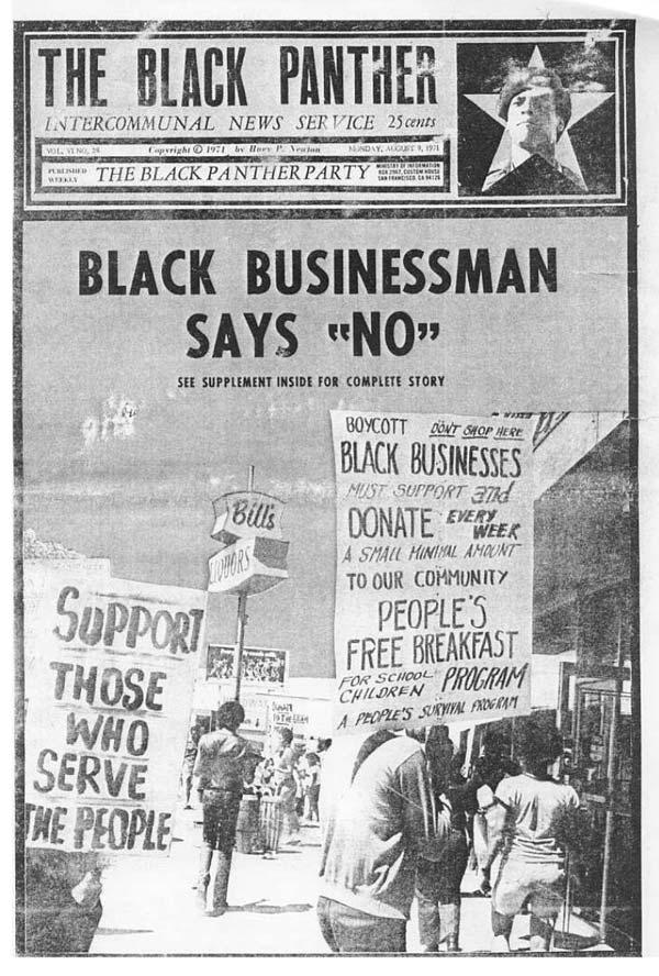 """Capa de Jornal """"Black Panther"""""""