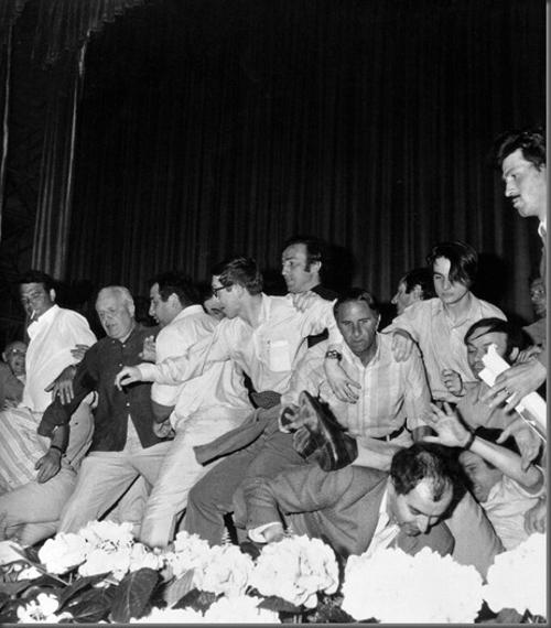 Protestos que exigem a interrupção do Festival de Cannes - 18 de maio de 1968