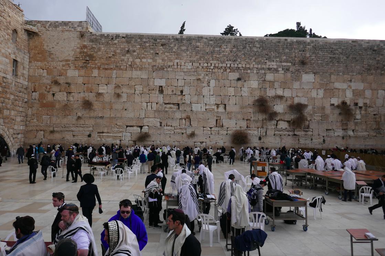 Muro das Lamentações, Jerusalém, Janeiro de 2018