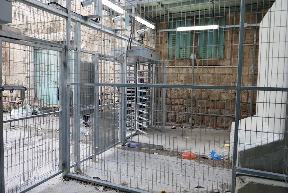 Checkpoint em Hebron, Janeiro de 2018