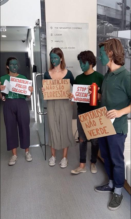 Ativistas da Climáximo