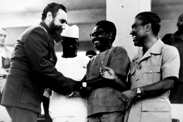 Fidel Castro e Agostinho Net: tropas cubanas decidiram o desfecho e participaram na repressão