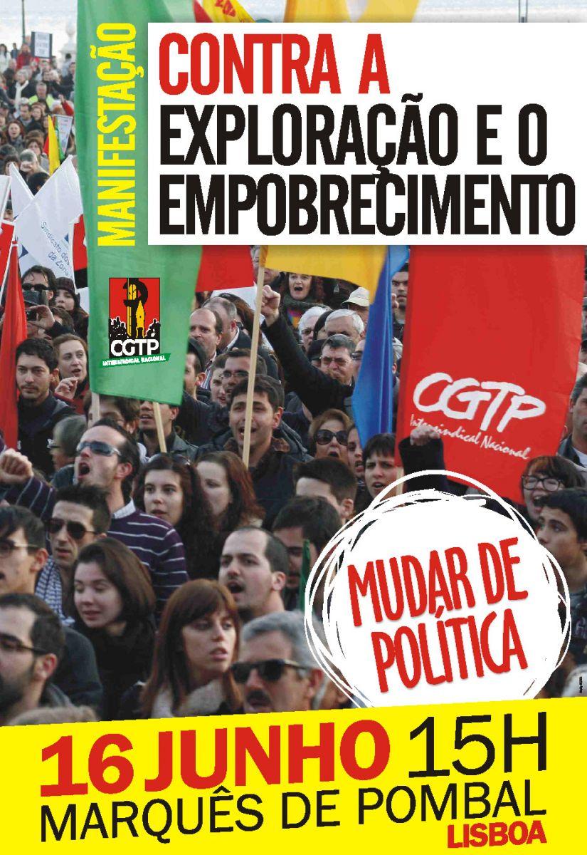 Manif CGTP 16 de Junho - Contra a exploração e o empobrecimento