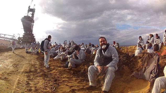 Ocupação da mina de carvão de Hambach pelo movimento Ende Gelaende, durante a COP-23 na Alemanha