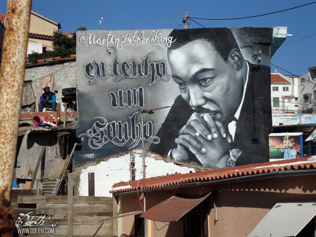 Triibuto a Martin Luther King na Cova da Moura. Foto Odeith.com