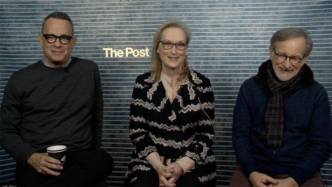 Tom Hanks, Meryl Streep e Steven Spielberg