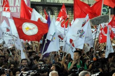 Comício da Syriza em Atenas.