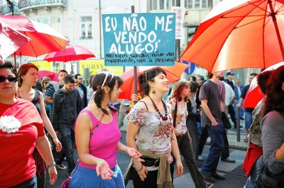 Desfile pelos direitos dos trabalhadores do sexo, integrado no Mayday Lisboa 2010. Foto de Paulete Matos.