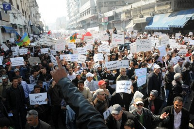 Manifestação exigindo reformas em Casablanca, Marrocos, Março 2011. Foto Maghare/Flickr.