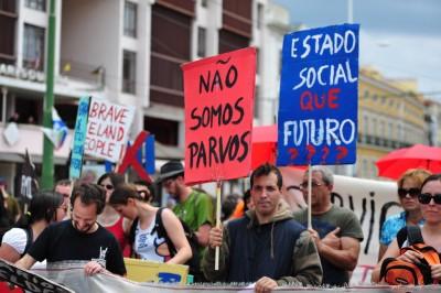 Manifestação de trabalhadores/as precários/as - MaydayLisboa 2011. Foto de Paulete Matos.