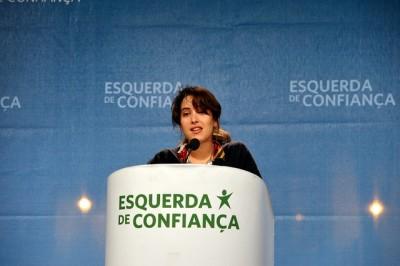 Irina Castro,    cabeça de lista do Bloco por Vila Real - Foto de Paulete Matos