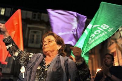 Comício do Bloco em Guimarães - Foto de Paulete Matos