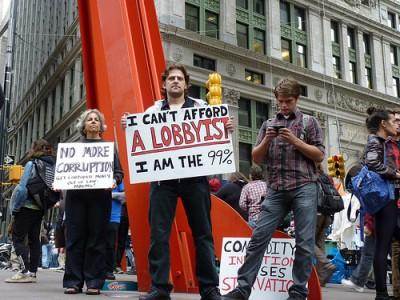 Manifestantes em Wall Street, 17 de Setembro de 2011 - Foto Carwil/Flickr