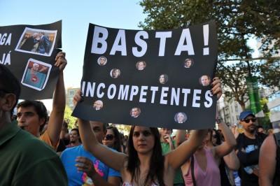 """Manifestação """"Que se lixe a troika"""", 15 de Setembro de 2012. Foto de Paulete Matos."""