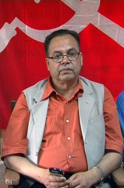 O novo primeiro-ministro Jhala Nath Khanal, do Partido Comunista do Nepal (Unidade Marxista-Leninista). Foto de Krish Dulal, wikimedia commons