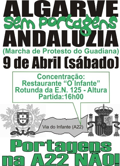 Marcha do Guadiana, Algarve – Andaluzia Sem Portagens - dia 9 de Abril de 2011