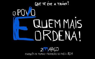 """""""Que se lixe a troika"""" convoca manifestação para 2 de Março"""