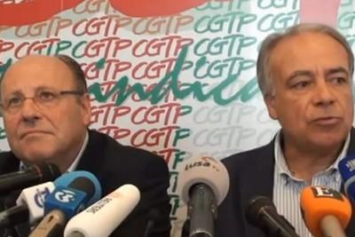 Líderes da CGTP e da UGT entregaram nesta quarta feira o pré-aviso para a greve geral