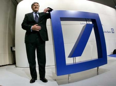 Josef Ackermann, presidente do Deutsche Bank