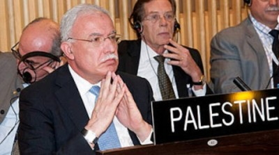 Representante da Autoridade Nacional Palestina Rayid al-Maliki na sessão da Unesco. Foto: Unesco/Dou Matar.