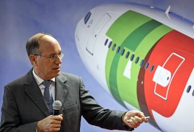 Fernando Pinto, presidente da TAP, empresa que gastou 2,6 milhões de euros com os seus seis administradores em 2009 – Foto de Tiago Petinga/Lusa (arquivo)