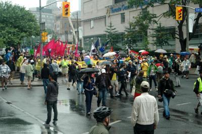 Manifestação em Toronto. Foto de iwasaround, FlickR