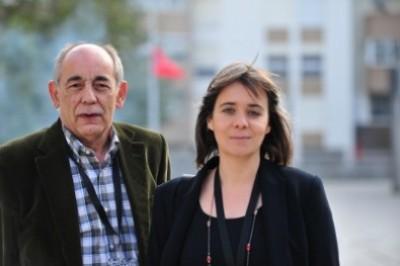 João Semedo e Catarina Martins, os novos co-coordenadores da Comissão Política do Bloco de Esquerda. Foto de Paulete Matos.