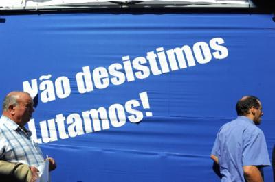 Manifestação nacional de protesto em Lisboa. Foto de Paulete  Matos