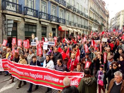 Jornada nacional de luta e ação da CGTP, manifestação de Lisboa - Foto de Paulete Matos