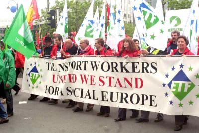 Manifestação europeia realizada em Bruxelas a 15 de Maio de 2009 -  Foto da Photothèque du mouvement social
