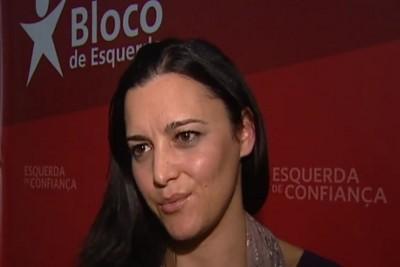 """""""A tragédia grega antecipa o que é a política de austeridade e aquilo que se tornará inevitável em Portugal nos próximos tempos"""" declarou Marisa Matias em conferência de imprensa"""